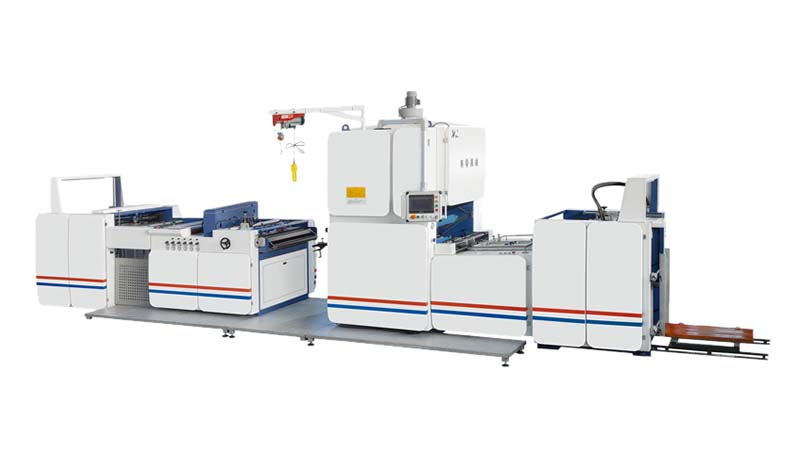 QLFM-1100 Fully automatic vertical lamination machine(Chain knife slitting)
